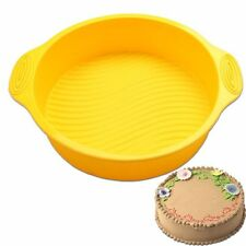 Color Random 3d Round Shape 9 Inch Oven Baking Tray Cake Maker Silicone Mold