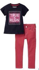 True Religion Toddler Girl 2 Pc Set T-Shirt & Pink Skinny Pants Sz 2T  NWT