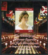 Chad 2018 CTO Princess Eugenie & Jack Royal Wedding 1v M/S II Royalty Stamps