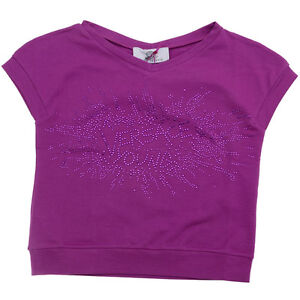 6 8 /& S 10 NWT Young Versace Girls Pink Studded Tshirt Top Size 4