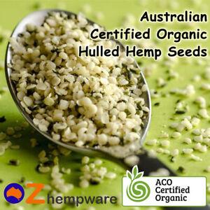 Hemp Seeds Hulled Australian Certified Organic Vegan Fresh 250g,1kg,2kg,4kg,10kg
