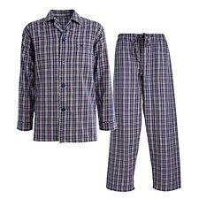 Morley Mens Zealus Brushed Cotton Pyjamas Small Navy Check rrp £35 box72 99 A