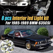 8Pc Super White Car Interior LED Light Bulb Kit for 1985-1989 BMW 635csi