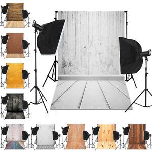 Bricks Wood Wall Floor Photography Backdrops Cloth Photo Background Retro