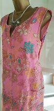 Next Size 18 Pink Floral Sleeveless Tunic Summer Shift Dress
