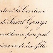 Marie Antoinette De Saint-Genys Paris 29 août 1885