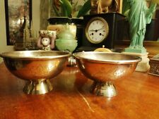 Pair of vintage white metal bowls Indian made in India