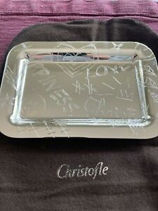 Christofle Graffiti Silver Plated Rectangular Tray