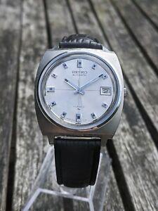 Seiko 7005-7011 Silver Crosshair dial 1970 watch - Excellent Original Condition