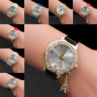 2018 Women Quartz Wrist The Eiffel Tower Rhinestone pendant Wrist Watch Lover