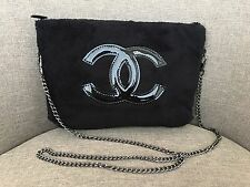 Chanel VIP Gift Cross Body Bag Purse Clutch Black 170612-3 Brand New & Beautiful