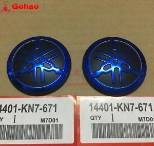 2pcs Orig. Blue Tuning Fork Emblem Decal Badge Logo for Yamaha Racing Motorcycle