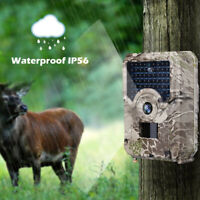 12MP Trail Camera Waterproof Outdoor Hunting Cam with IR Led Wild Night Vision