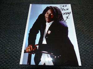 SOLAR SYSTEM Alpha Blondy signed 7x5 autograph Photo InPerson in Germany LOOK