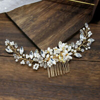 Luxurious Bride Bridal Hair Comb Wedding Pearl Bead Clip Tiara Headband NewJCAU