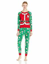 Hello Kitty Women's Pajamas Set PJs Holiday Christmas Red Green Ugly Contest L M