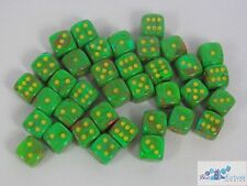 CHESSEX vortex 12mm SET OF 36 D6 SLIME WITH YELLOW DICE FOR MTG POKEMON