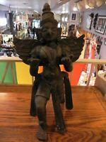 "14 1/2"" Bronze Garuda King of Birds Statue In Anthropomorphic Form"