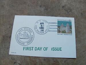 1980 United States Stamp cover / Postcard- US Navy, USS Fulton, Submarine tender