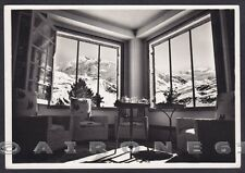 SONDRIO SANTA CATERINA VALFURVA 23 INTERNO HOTEL ALBERGO Cartolina FOT viag 1952