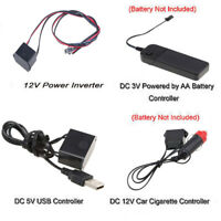 3V/5V/12V USB Controller LED EL Wire/Tape Flexible Neon Decor Strip Lamp New