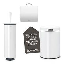 Brabantia Sets de baño 3-tlg Cepillo Cubo cosméticos Soporte papel higiénico