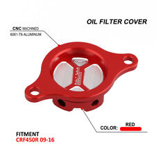 Motorcycle Oil Filter Cover For HONDA CRF450R CRF 450R 2009-2016 Dirt Bike