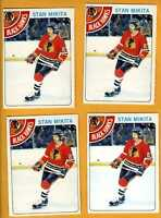 1978 OPC hockey card lot of 4 Stan Mikita Chicago Blackhawks, Near Mint