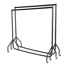 2 x 6ft Heavy Duty Garment Clothes Dress Hanging Display Market Rail Steel Rack