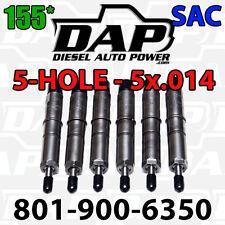 5x.014 155* DAP Performance Injectors 89-93 For Dodge Cummins Diesel 12v