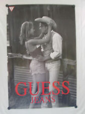 "GUESS JEANS ORIGINAL FULL SIZE PROMO POSTER 36"" X 24""   BEAUTIFUL MODELS"