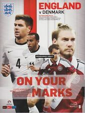 ENGLAND v DENMARK 2014 FRIENDLY MINT PROGRAMME