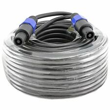 100' FT foot 12 awg GA gauge SPEAKON COMPATIBLE SPEAKER TO CABLE CORD PA DJ PRO
