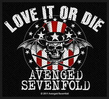 """Avenged Sevenfold ricamate/Patch # 7 """"Love it or I"""""""