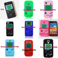 Penguin Gameboy Style Soft Silicone Gel Skin Back Case Cover For Cell Phones