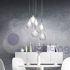 Lampadario lampada sospensione design moderno minimal acciaio cromato soggiorno