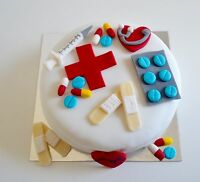 Edible Doctor Nurse Medical Hospital Graduation Cake Toppers Birthday Decoration
