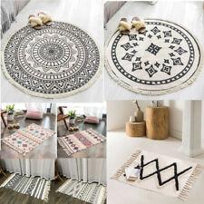 Cotton Boho Round Carpet Boho Ethnic Tassel Carpet Rug Decorative Throw Gifts