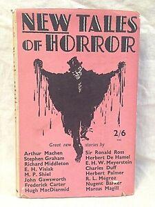E H Visiak - SIGNED - New Tales of Horror, 1st/1st 1934 in Rare Original Jacket