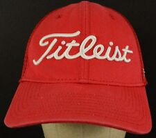 Titleist Red Mesh Baseball Hat Cap with Fitted Band Size Unknown