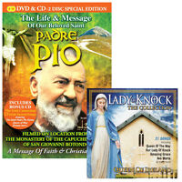 The Life and Message of Our Beloved Saint Padre Pio DVD/CD + Bonus Lady of Knock