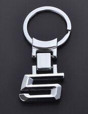 """BMW 5 Series Car Logo Keychain Silver 2"""" US Seller"""
