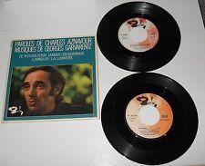 49 - 45 giri Charles Aznavour Je n'oublierai jamais - Desormais - L'amour .....