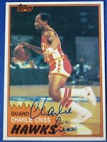 CHARLIE CRISS autograph signed 1981-82 Topps  Atlanta Hawks