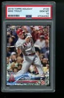 2018 Topps Holiday #100 Mike Trout Los Angeles Angels PSA 10 GEM MINT!