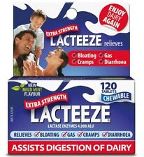 2 × Lacteeze Extra Strength 120 Tablets for Lactose intolerance OzHealthExperts