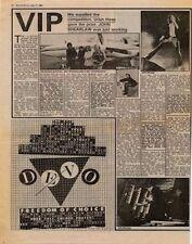 Devo Freedom Of Choice UK LP advert 1980