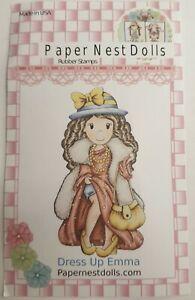 Rubber Stamp Paper Nest Dolls Dress Up Emma