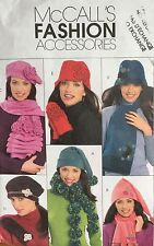 2008 'MC CALL'S' FASHION ACCESSORIES MITTS/HATS/SCARF PATTERN M5773 ONE SIZE
