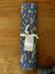 Williams Sonoma Blue Lunar Palace Celebration Table Runner - Florals - New